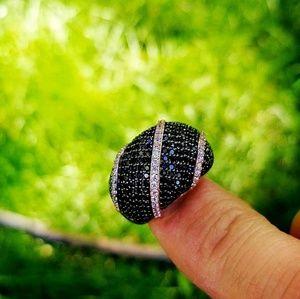 Jewelry - 🤘🤘 Chic Black Gemstone Rings 🤘🤘